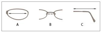 Rozměry brýlí